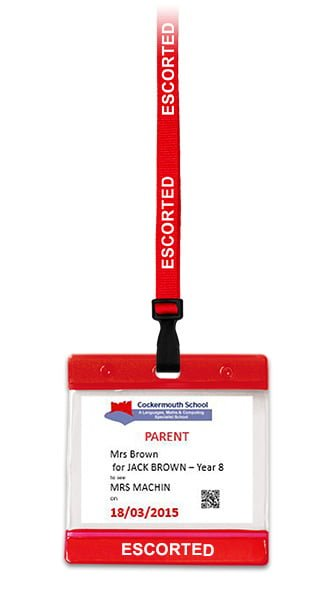 Red Escorted Lanyard