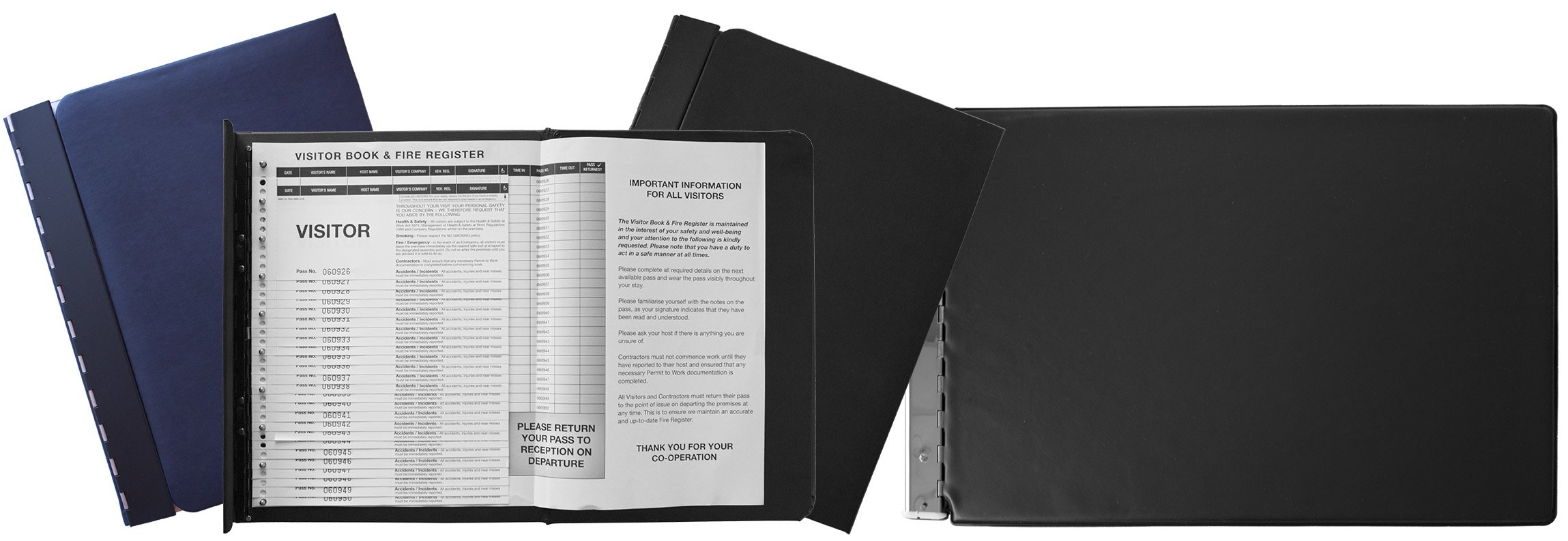 Confidential Visitor Management Systems Sign In Books