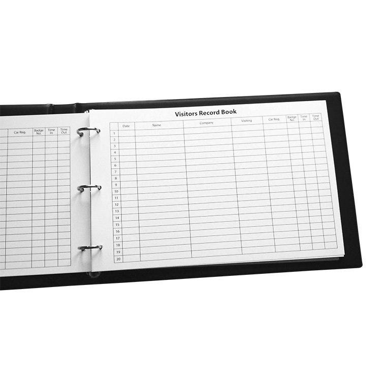 Visitor System Book With Padded Binder For Use With