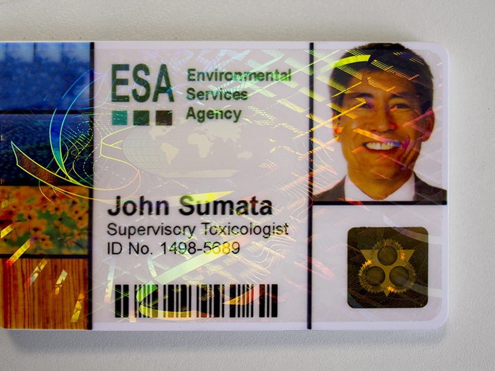 ID Card Security - Holographic Overlay