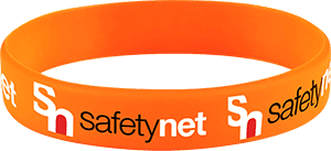 Safetynet Branded Silicone Wristband