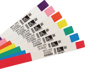Zebra wristband colours