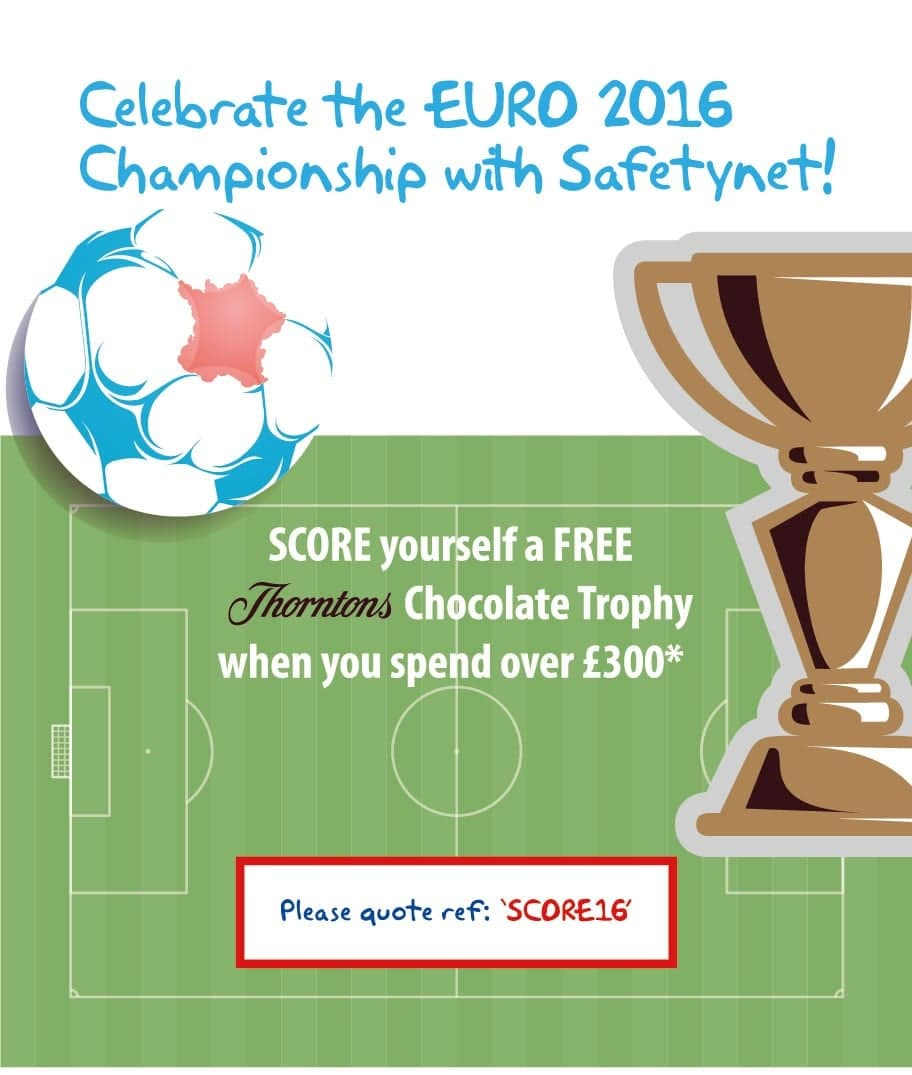 Score yourself a FREE Thorntons Chocolate Trophy with Safetynet Solutions