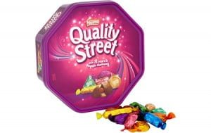 Free tub of Quality Street from Safetynet Solutions with every order over £100