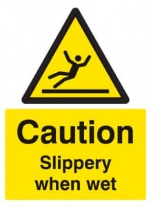 Caution slippery when wet sign 4229-508x696
