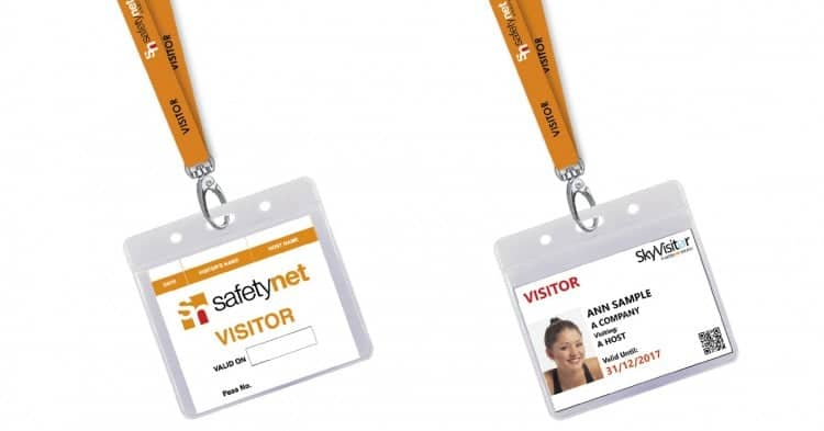 Customised Visitor Passes with Branded Visitor Lanyards