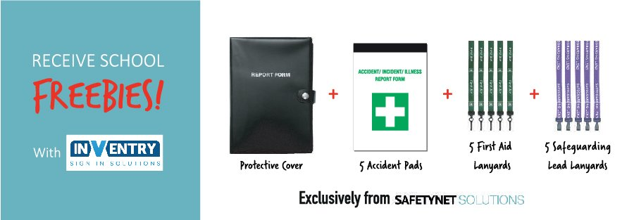 InVentry school freebies - Exclusively available from Safetynet.