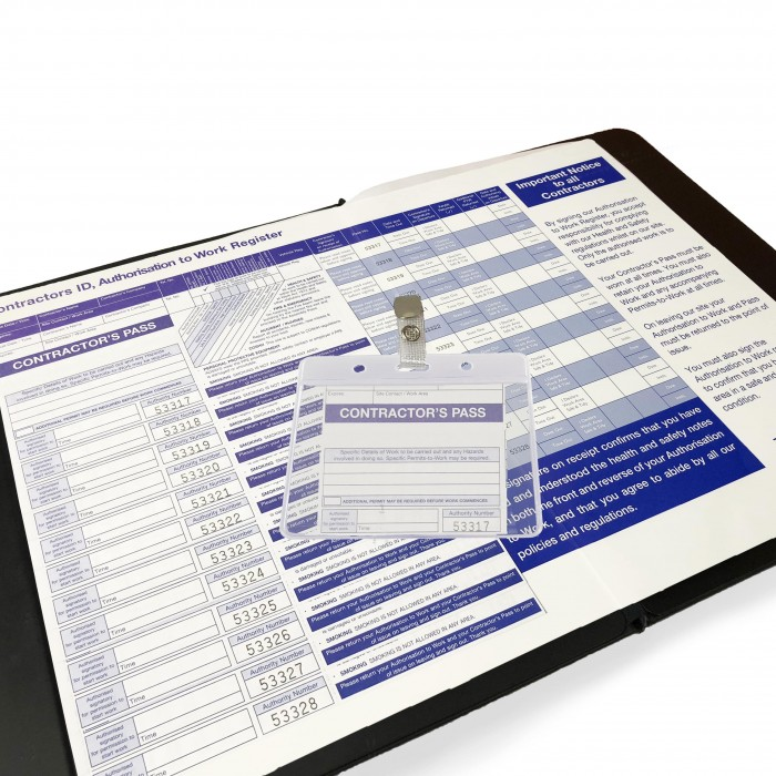 Contractor Sign-In Pass System 1