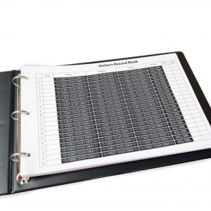 Data Sealed Visitor and Pupil Record Book 01