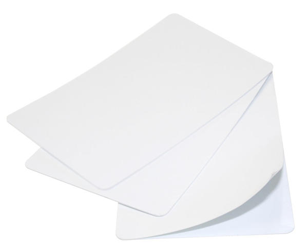 Blank White 480 Micron CR79 Under-Sized Adhesive Cards - Pack of 100