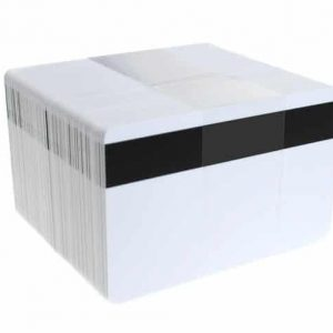 Blank White PET Core Plastic Cards with Magnetic Stripe (Pack of 100)