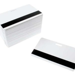 Blank White Plastic Cards With Mag & Punch Slot (Pack of 100)