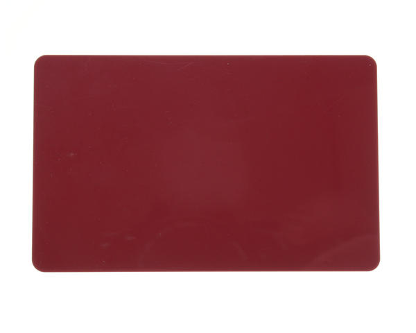Burgundy, Cranberry Premium 760 Micron Cards, Coloured Core - Pack of 100