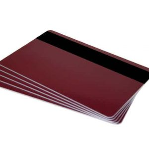 Burgundy Plastic Cards With Hi-Co Magnetic Stripe (Pack of 100)