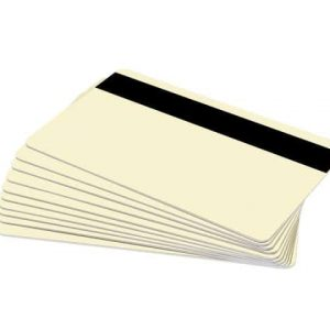 Cream Plastic Cards With Hi-Co Magnetic Stripe (Pack of 100)