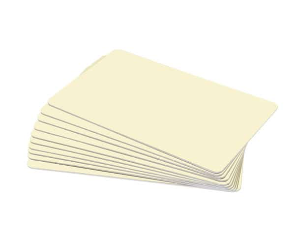Cream Tan Premium 760 Micron Cards, Coloured Core - Pack of 100