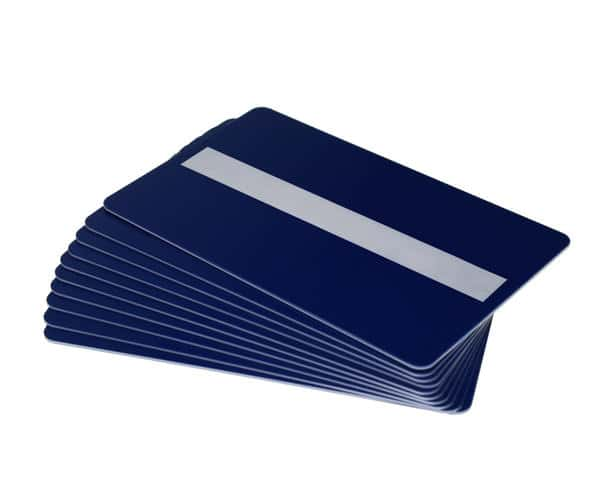 Dark Blue Plastic Cards With Signature Strip (Pack of 100)