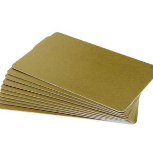 Dark Yellow Gold Premium 760 Micron Cards, Coloured Core - Pack of 100