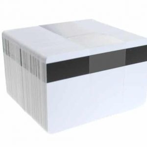 Dyestar Blank White 760-Micron PVC Cards With Lo-Co Magnetic Stripe (Pack of 100)