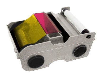 Fargo DTC1250-1000 YMCKO Colour Ribbon with Cleaning Roller, 045000 - 250 Prints
