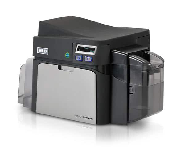 Fargo DTC4250e Single Sided Plastic Card Printer with USB and Ethernet Connectivity - 052000