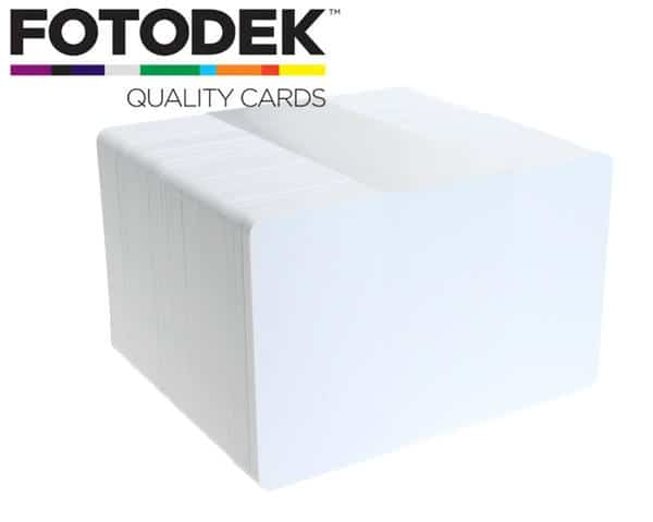 Fotodek Premium Ice White Plastic Cards (Pack of 100)