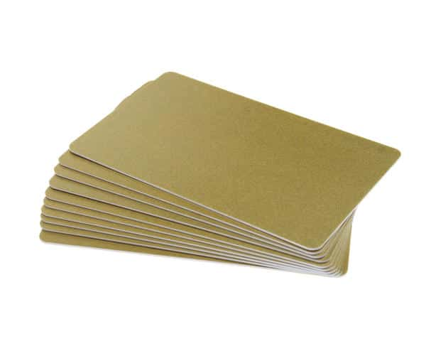 Glitter Gold 760 Micron Cards (Pack of 100)