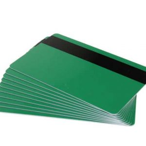 Green Plastic Cards With Hi-Co Magnetic Stripe (Pack of 100)
