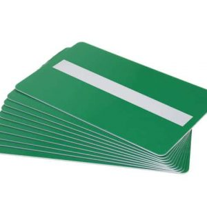 Green Plastic Cards With Signature Strip (Pack of 100)