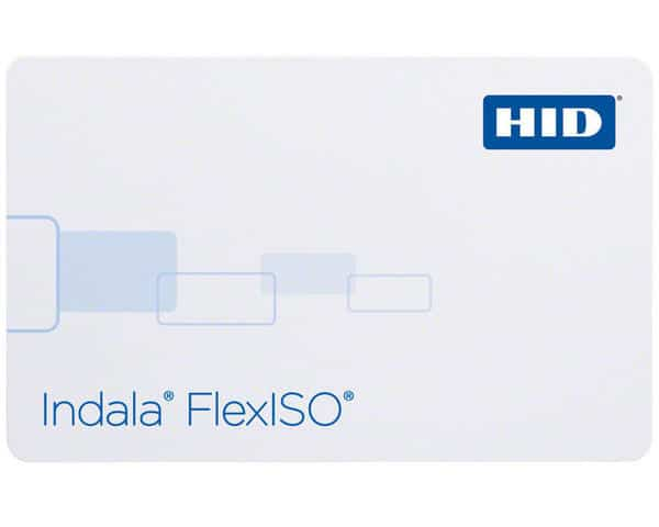 HID Indala FlexISO Imageable Proximity Cards, Part Number FPISO-SSSCNA-0000 (Pack of 100)