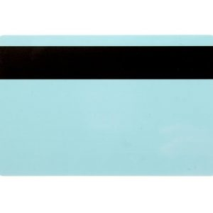 Light Blue 760 Micron Cards with 2750oe Hi-Co Magnetic Stripe, Coloured Core - Pack of 100
