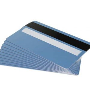 Light Blue Plastic Cards With Magnetic Stripe & Signature Strip (Pack of 100)
