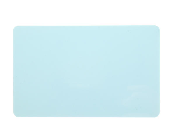 Light Blue Premium 760 Micron Cards, Coloured Core - Pack of 100