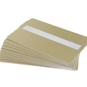 Light Gold 760 Micron Cards With Sig Panel - Pack of 100
