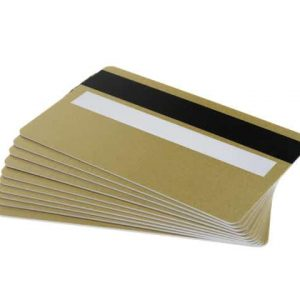 Light Gold Plastic Cards With Magnetic Stripe & Signature Strip (Pack of 100)