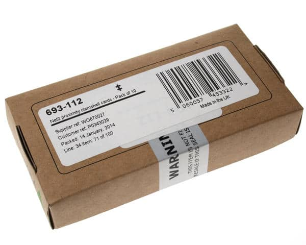 Paxton 693-112 Net2 Proximity with Clamshell ISO Cards (Pack of 10)