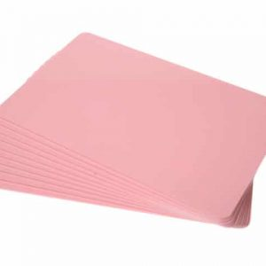 Pink Plastic Cards - 760 Micron, Coloured Core (Pack of 100)