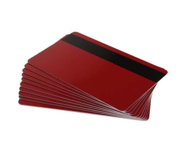 Red Plastic Cards With Hi-Co Magnetic Stripe (Pack of 100)