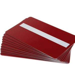 Red Plastic Cards With Signature Strip (Pack of 100)