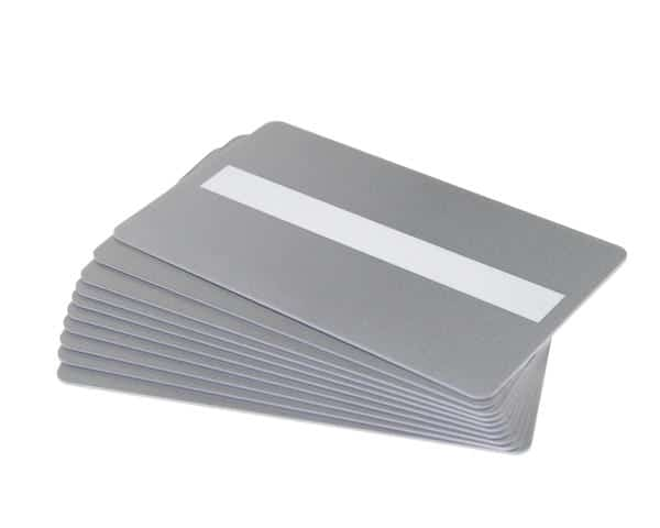Silver 760 Micron Cards with Signature Panel, Coloured Core - Pack of 100