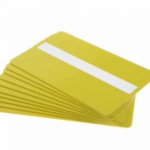 Yellow Plastic Cards With Signature Strip (Pack of 100)