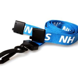 15mm NHS Lanyards with Breakaway and Plastic J Clip - Pack of 100
