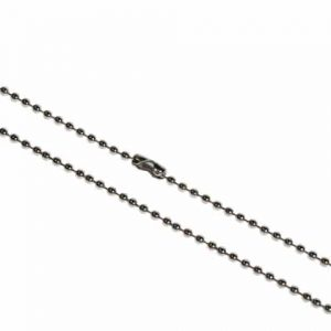 30inch Metal Bead Chain Necklace, Nickel Plated - Pack of 100