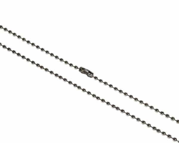 36inch Metal Bead Chain Necklace, Nickel Plated - Pack of 100