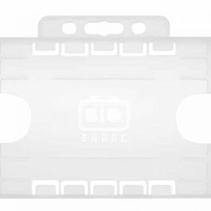 Clear Dual Sided ID Card Holder -Portrait (Pack of 100)