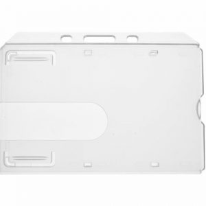 Clear Enclosed ID Card Holder - Landscape (Pack of 100)