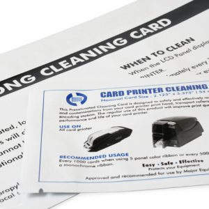 Compatible Premier Cleaning Kit for Zebra P330I (25 Long 25 Short cards)
