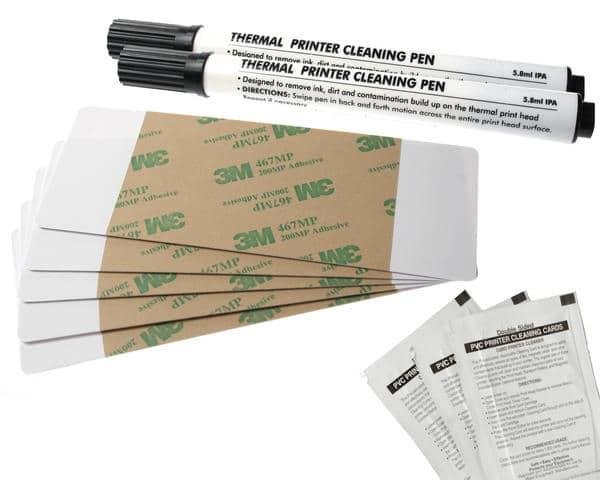 Fargo DTC550 Cleaning Kit – includes 2 Printhead Cleaning Pens, 10 Cleaning Cards, 10 Cleaning Pads, 086003