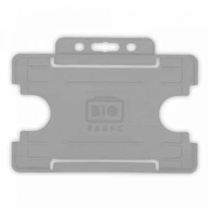 Grey Single-Sided BIOBADGE Open Faced ID Card Holders - Landscape (Pack of 100)