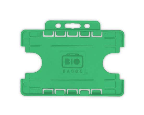 Light Green Dual-Sided BIOBADGE Open Faced ID Card Holders - Landscape (Pack of 100)